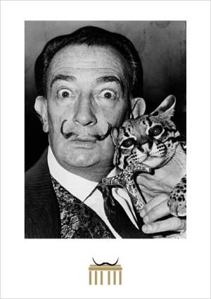 Dalí mit Ozelot