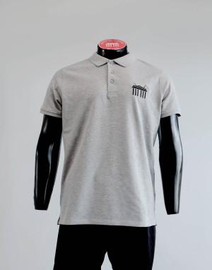 DaliBerlin Poloshirt Herren grau mit gesticktem Logo