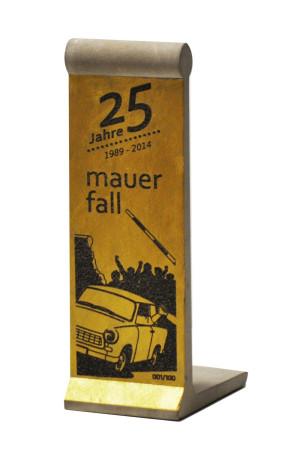 Mauerstückminiatur - 25 Jahre Mauerfall gold
