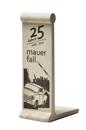 Mauerstückminiatur - 25 Jahre Mauerfall silber
