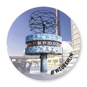 WZU Button Foto Weltzeituhr