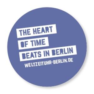 "WZU Button ""The heart of time beats in Berlin"""
