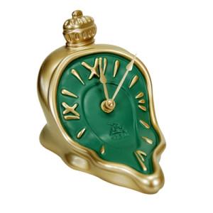 Uhr fließend mit Knopf/Krone gold/grün