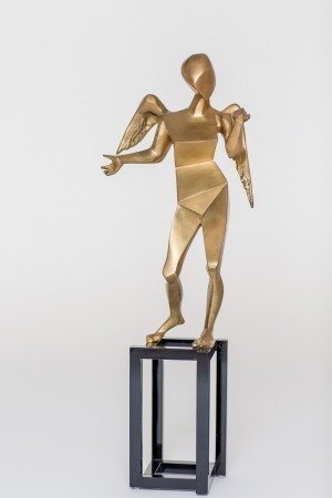Skulptur: Der Kubistische Engel