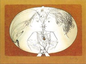 Lithographie: Pier Le Colas - La Coupe de Vie