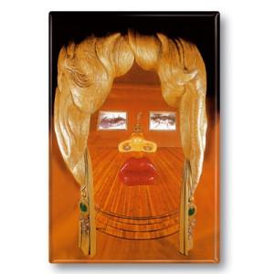 Kühlschrankmagnet: Gesicht der Mae West