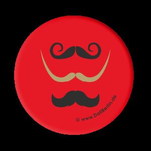 Button 3 Schnurrbärte rot